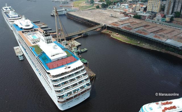 Manaus espera mais de 5 mil turistas de cruzeiros neste mês