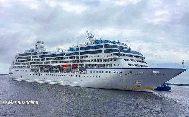 M/S Sirena retorna a Manaus com mais de mil turistas