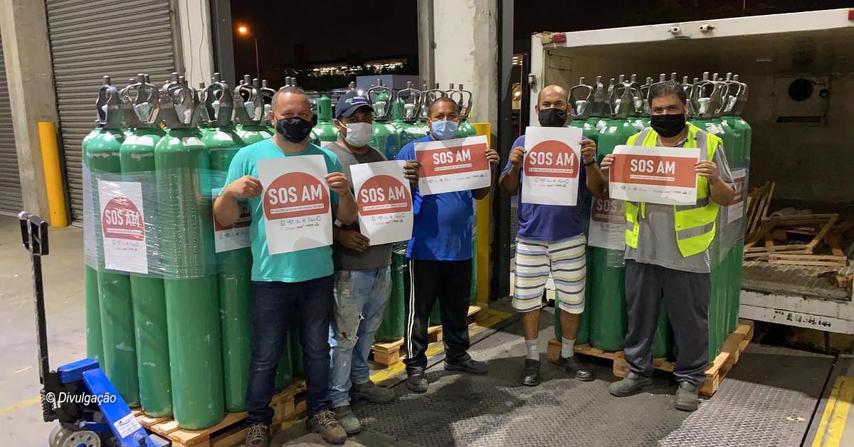 Seis municípios recebem cilindros de oxigênio doado pelo Amazonas Shopping