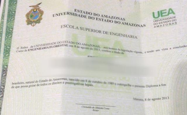SSP-AM prende jovem em flagrante por falsificação de certificados