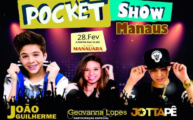 """""""Pocket show Manaus"""" apresenta João Guilherme e João Pedro"""