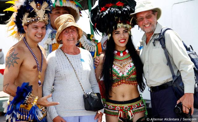 Mais de 2,4 mil turistas chegam a Manaus a bordo do navio M/S Oriana