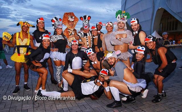 A 39º edição do Bloco das Piranhas será no domingo gordo de Carnaval no Podium da Arena