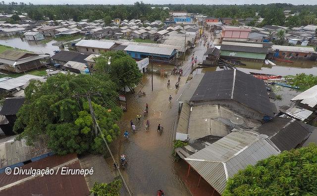 Cheia do Rio Juruá afeta mais de 12 mil pessoas em Eirunepé