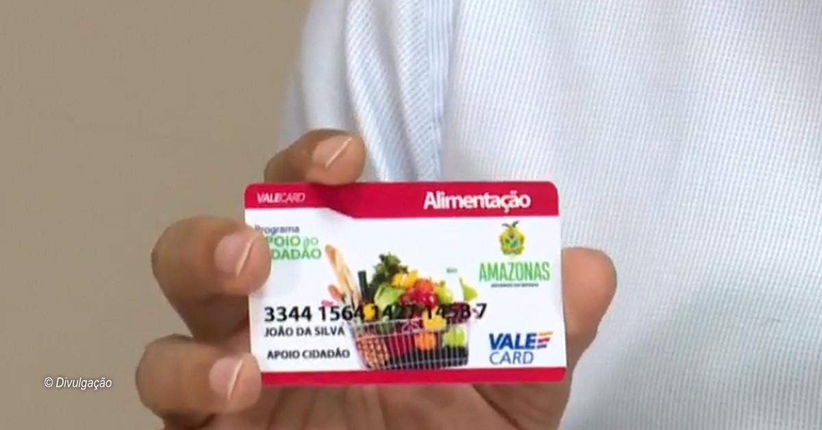 Beneficiários do auxílio emergencial do estado podem utilizar o cartão para compras