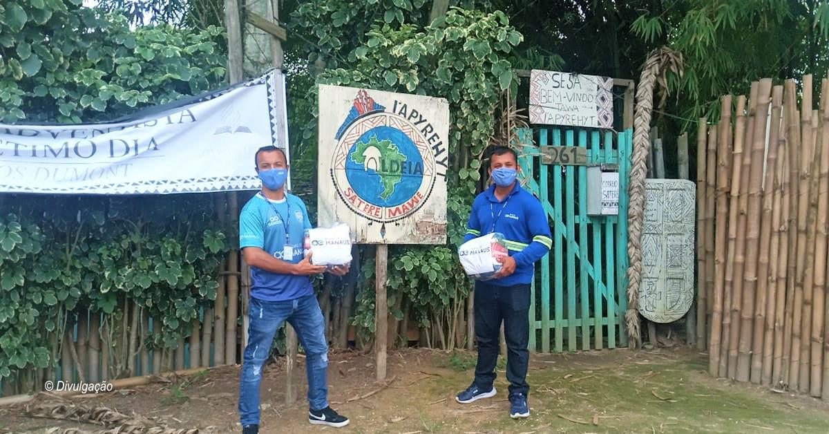 Águas de Manaus distribui cestas básicas e promove melhorias para levar água tratada