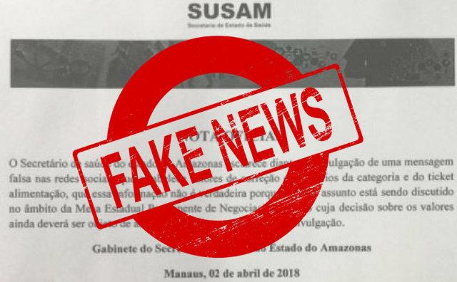Susam denuncia fake news