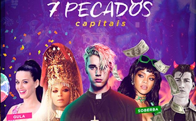"""Rocknbeats Manaus com o tema: """"7 pecados capitais"""" dia 20"""