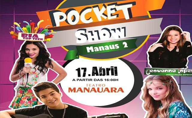 """""""Pocket Show Manaus 2"""" com Giovanna Chaves e Lucas Santos"""