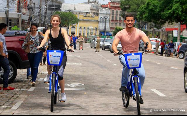 Manaus vai ganhar sistema de bicicletas compartilhadas no Centro