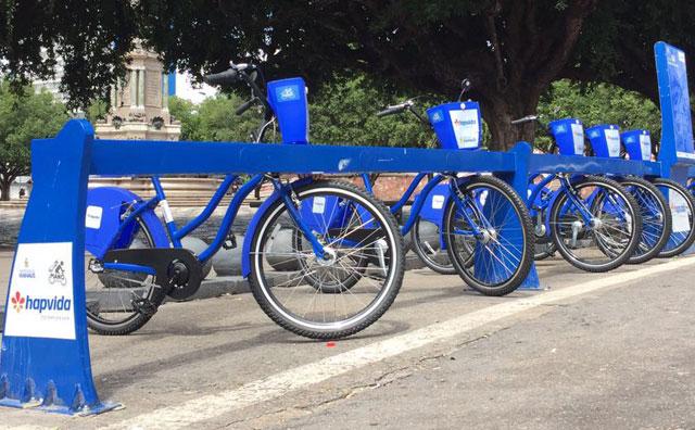 Bicicletas compartilhadas já realizaram mais de 1 mil viagens em 13 dias