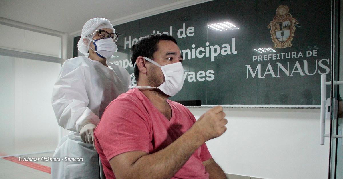 Sete pacientes recebem alta no hospital de campanha da prefeitura neste domingo