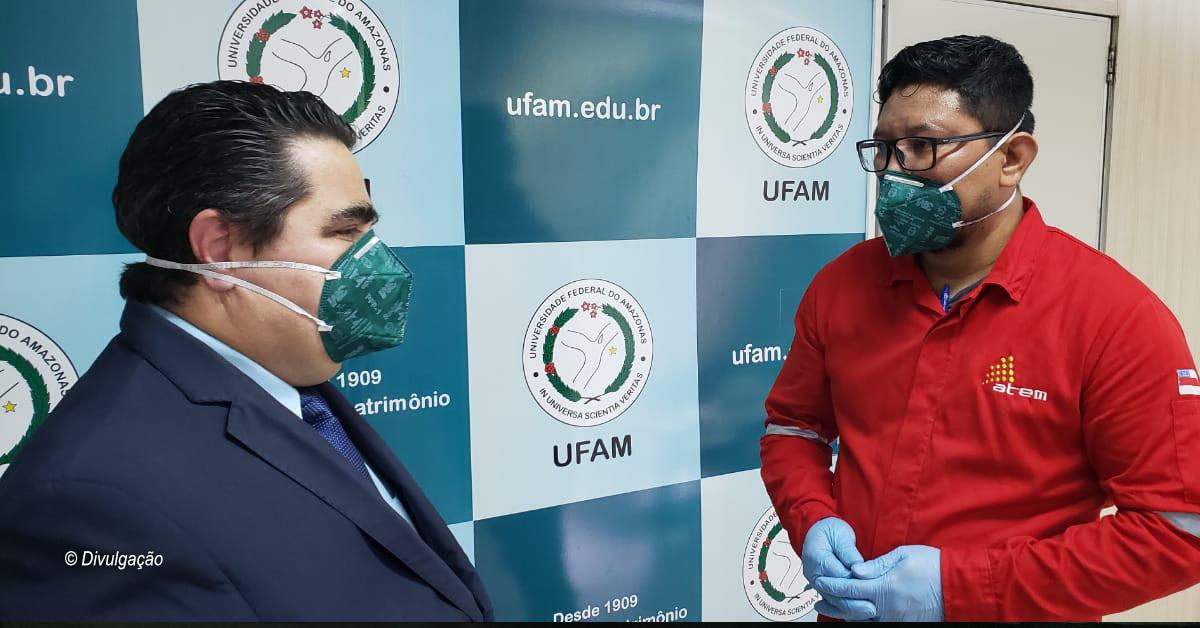 Atem firma parceria com UFAM para doação de álcool 70% ao hospital universitário