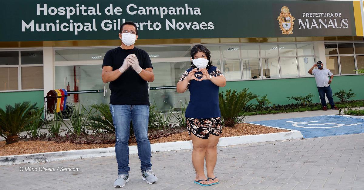 Pacientes recebem alta do Hospital de Campanha Municipal Gilberto Novaes
