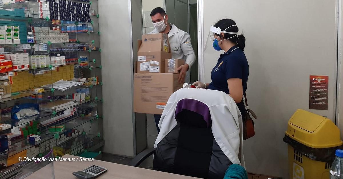 Drogaria que oferecia - coquetel anticovid - na zona Leste é autuada pela Visa Manaus