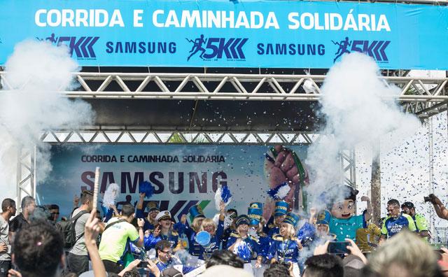 Corrida Solidária Samsung 5K reúne 9 mil participantes