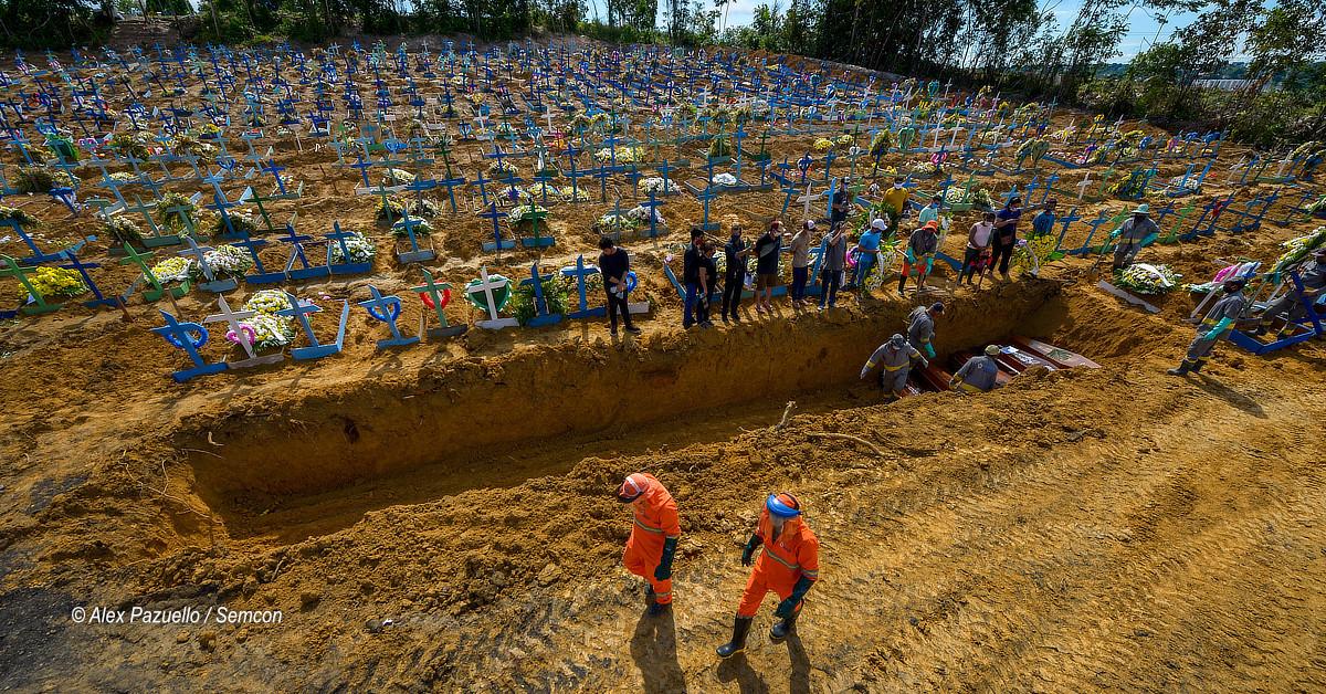 Comparado a 2019, número de sepultamentos em Manaus cresce quase 180% em abril