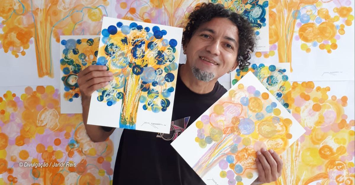 Alimente Nossa Arte troca alimentos por obra do artista plástico Jandr Reis