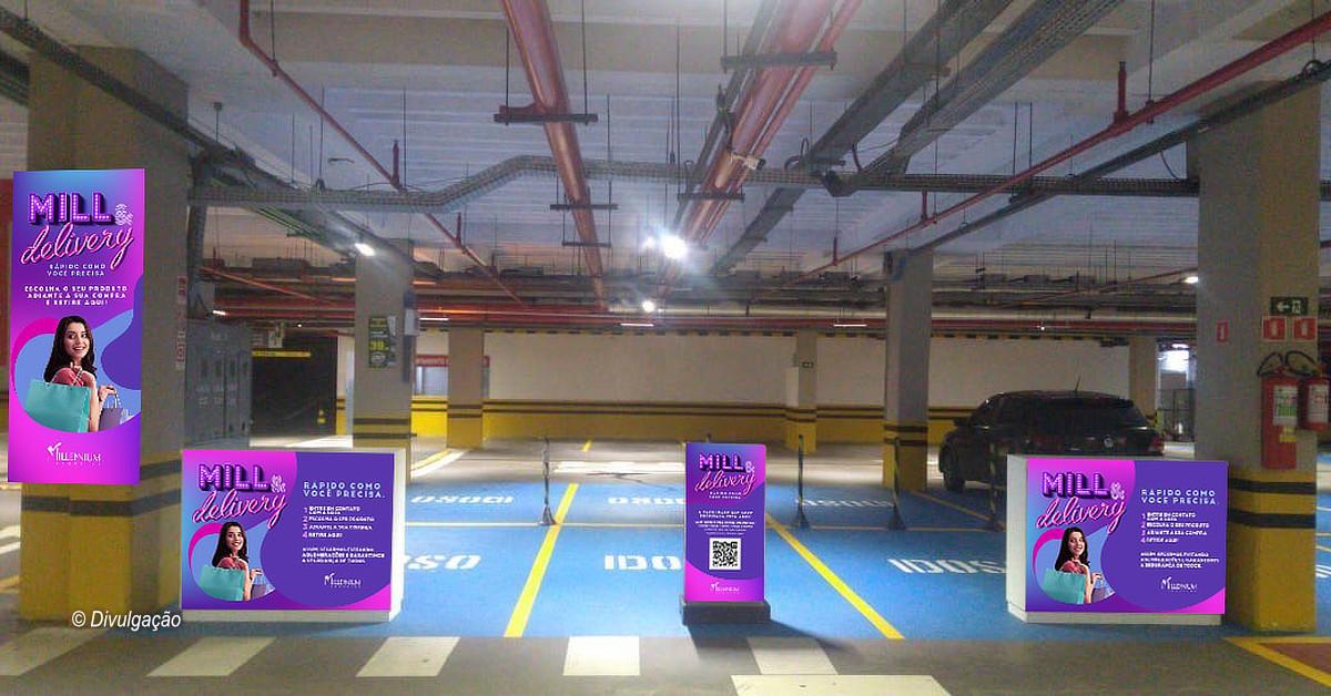 Millennium inaugura estacionamento exclusivo para delivery, drive-thru e Vitrine Virtual