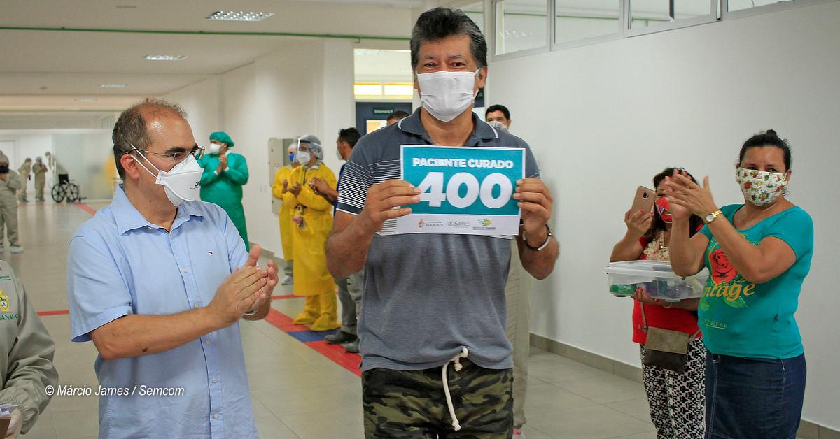 Hospital de campanha municipal ultrapassa 400 altas médicas