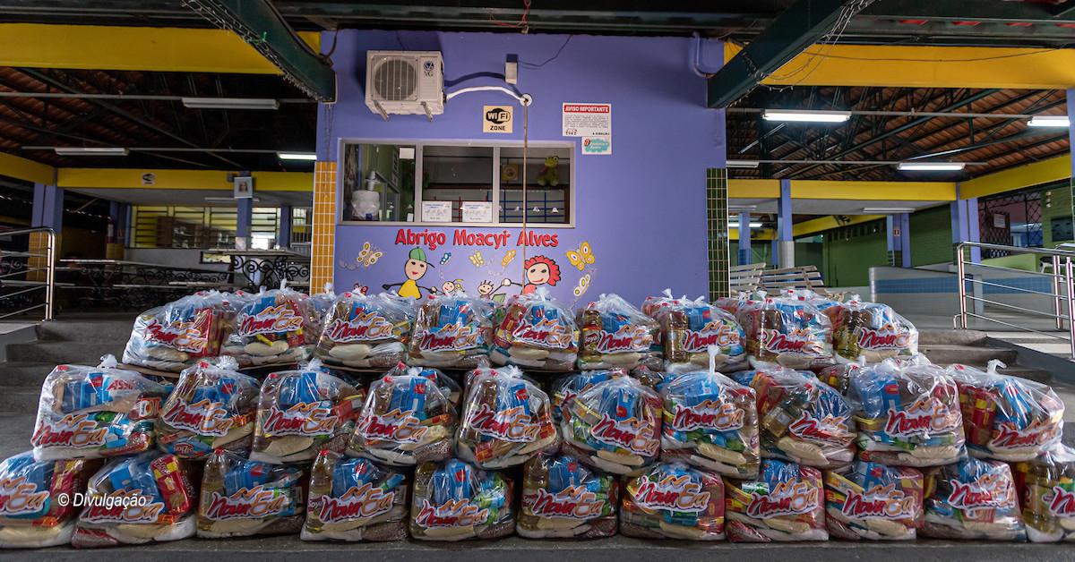 Superatacado Nova Era doa 164 toneladas de alimentos para instituições do AM, RR e RO