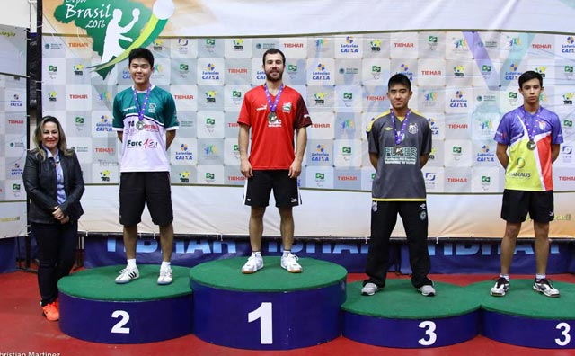 Mesatenista garante medalhas na Copa Brasil de Tênis de Mesa