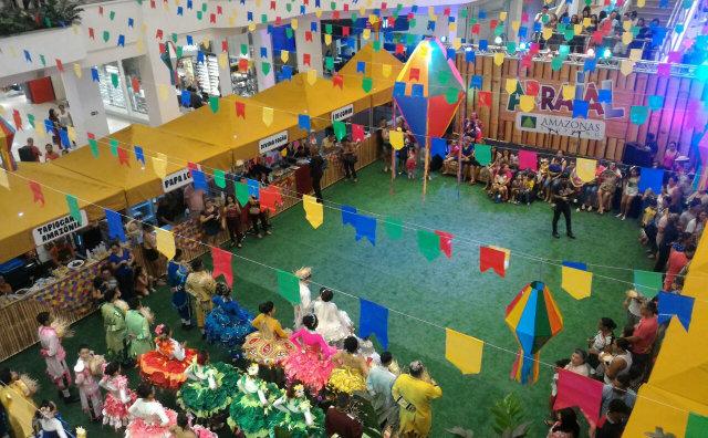 Amazonas Shopping promove arraial com shows, danças, brincadeiras