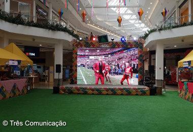Amazonas Shopping terá telão para transmissão dos jogos da Copa