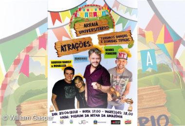 Arraiá Universitário no Podium da Arena da Amazônia, dia 23