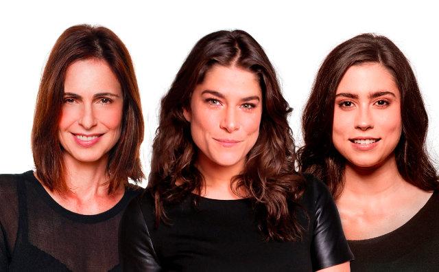 Silvia Pfeifer, Priscila Fantin e Olivia Torres no Teatro Amazonas