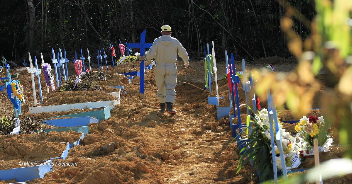 Cemitérios de Manaus registram menor índice de enterros em um único dia durante pandemia