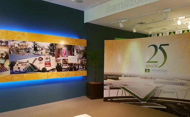 Exposição retrata 25 anos de história do Amazonas Shopping