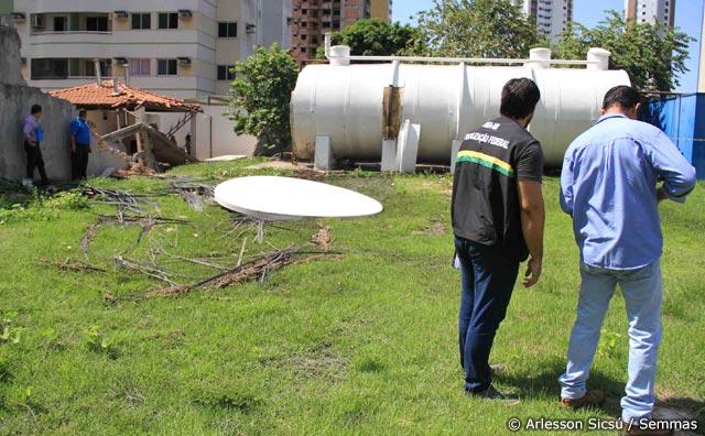 Semmas autua colégio por danos causados pelo rompimento de ETE