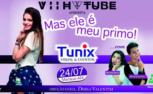 """Viih Tube apresenta """"Mas ele é meu primo"""" no Teatro Manauara"""