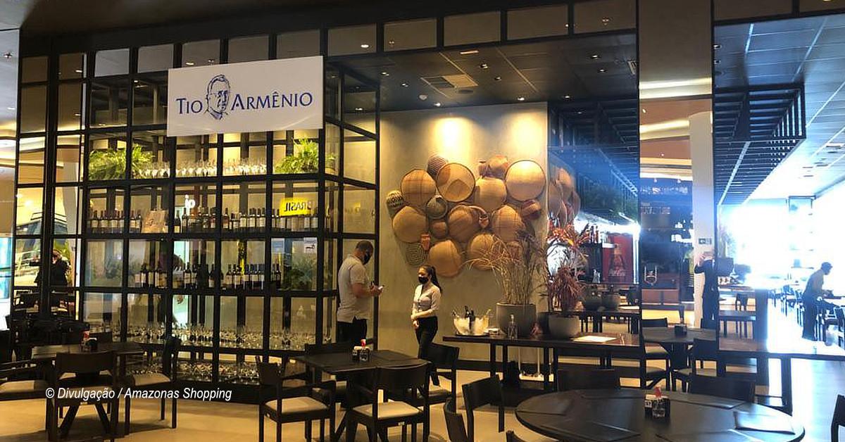 Restaurante Tio Armênio inaugura na Alameda Gourmet do Amazonas Shopping