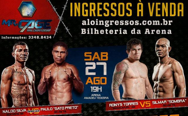 Mr Cage 23 – edição de Ouro acontecerá na Arena Amadeu Teixeira