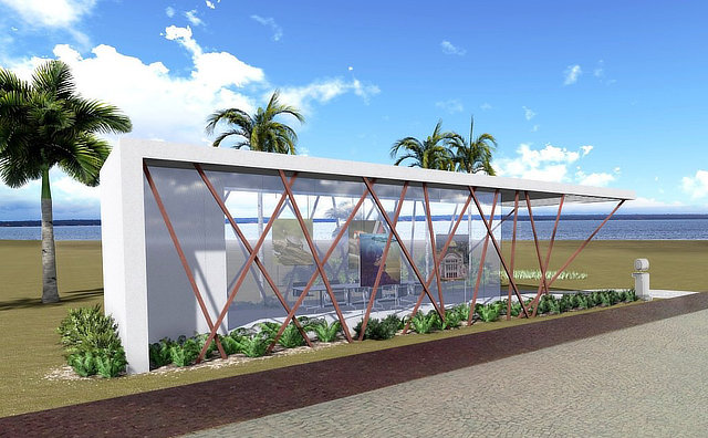 Estação do transporte coletivo na Ponta Negra terá quase 100 metros quadrados