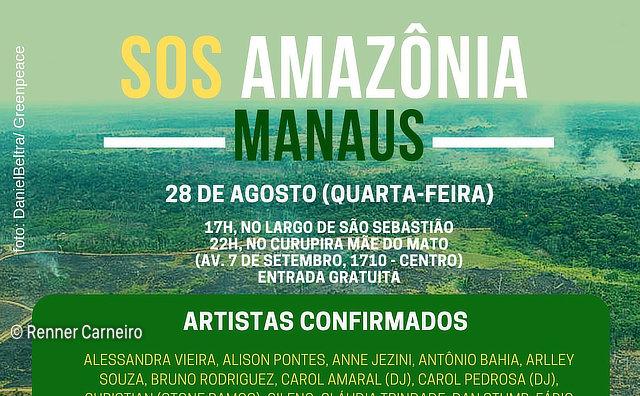 SOS Amazônia: Artistas Cantam em defesa da Floresta na próxima quarta-feira (28/09)