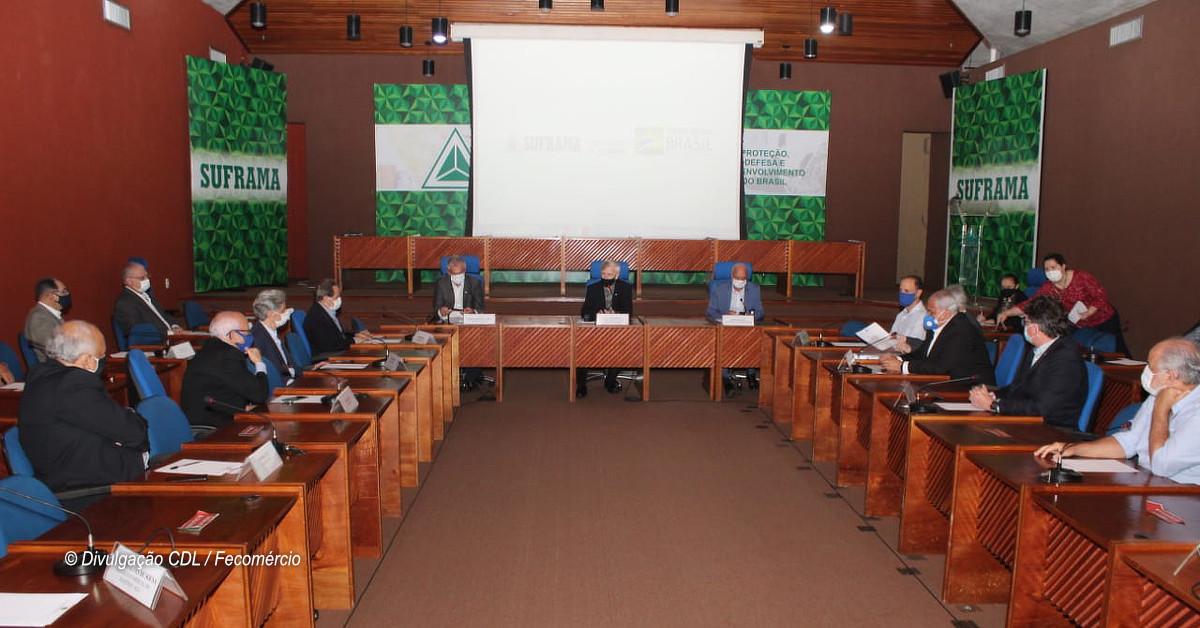 Representantes do comércio e Suframa discutem ações para fomentar o setor no Amazonas