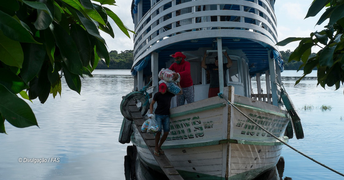 Ação Taberna do Bem abastece comércio na RDS do Rio Negro e fortalece economia local
