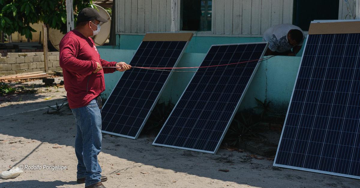 Comunidade indígena é beneficiada com painéis de energia solar