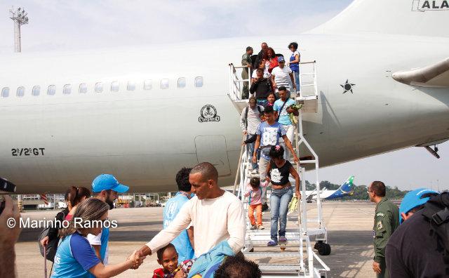 Imigrantes venezuelanos chegam a Manaus