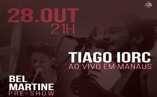 Sábado (28) tem show de Tiago Iorc no Studio 5