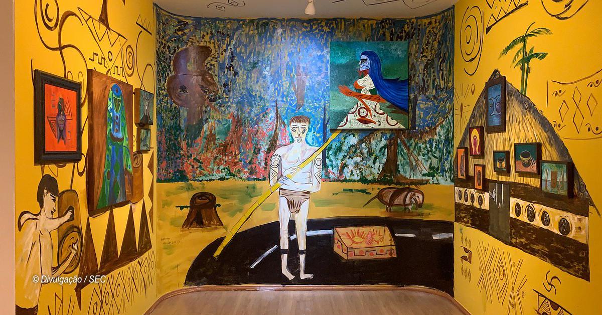 Nipetirã reúne obras de quatro artistas indígenas na Galeria do Largo