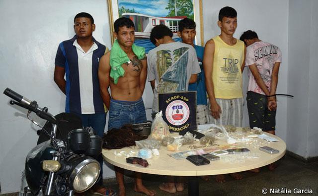 SSP-AM prende grupo envolvido com roubo e tráfico de drogas