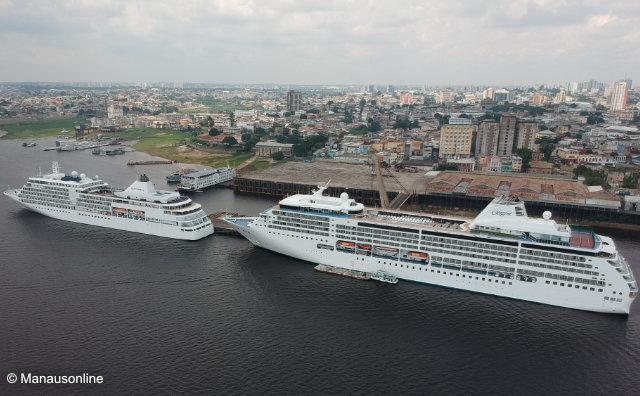 Seven Seas Mariner traz mais de mil estrangeiros a Manaus