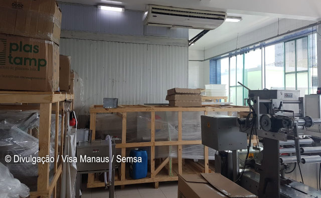 Visa apreende quase 400 quilos de sorvete em fábrica de Manaus