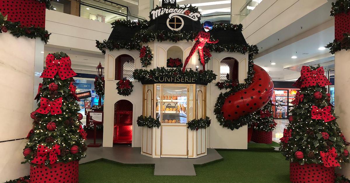 Espaço natalino inspirado em Miraculous – As Aventuras de Ladybug