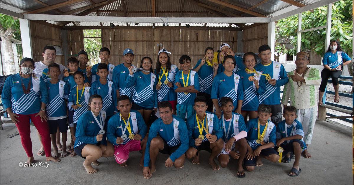 Campeonato de canoagem revela atletas indígenas com potencial olímpico