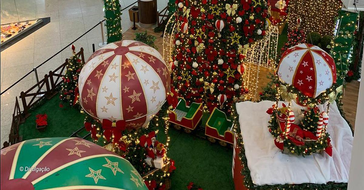 A Viagem de Noel é tema da decoração natalina do Sumaúma Park Shopping